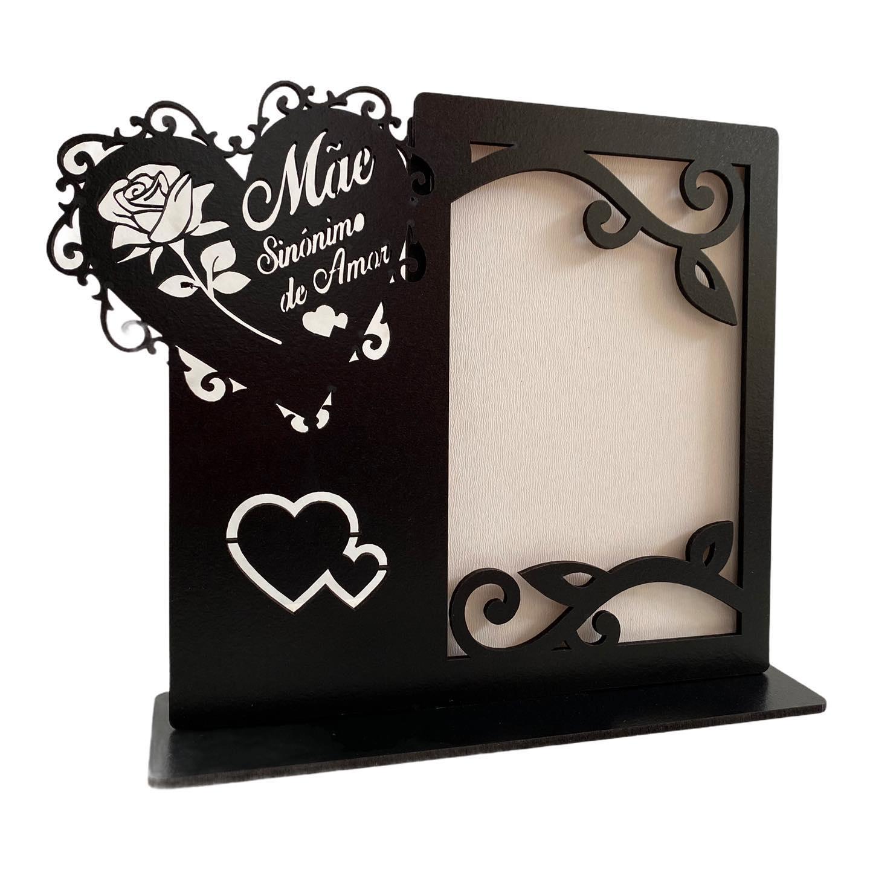 Porta Retrato Mãe sinônimo de Amor - Vertical - MDF