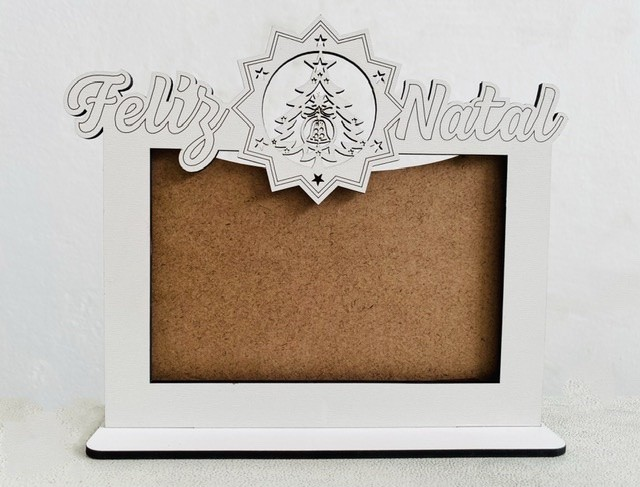Porta Retrato Natal - MDF Branco