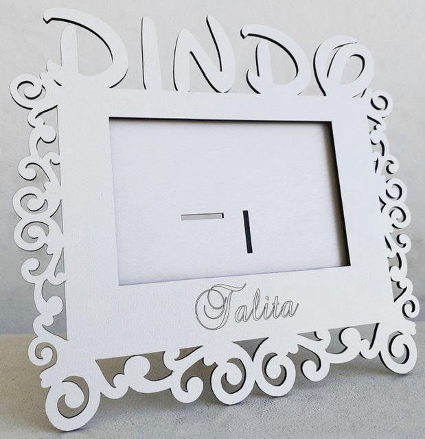 Porta Retrato Personalizado Dindo em MDF Branco