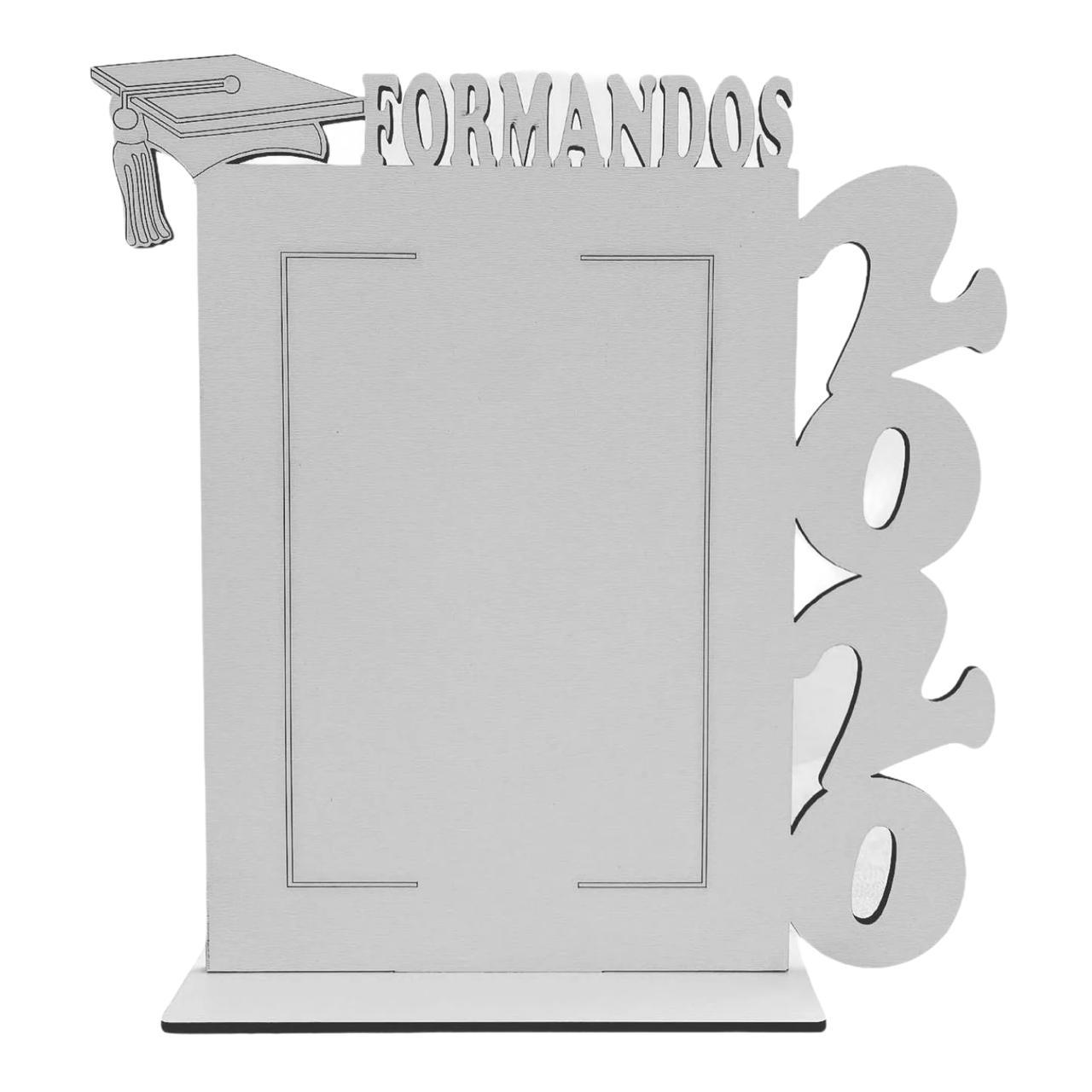 Porta Retrato Personalizado Formandos em MDF Branco Vertical