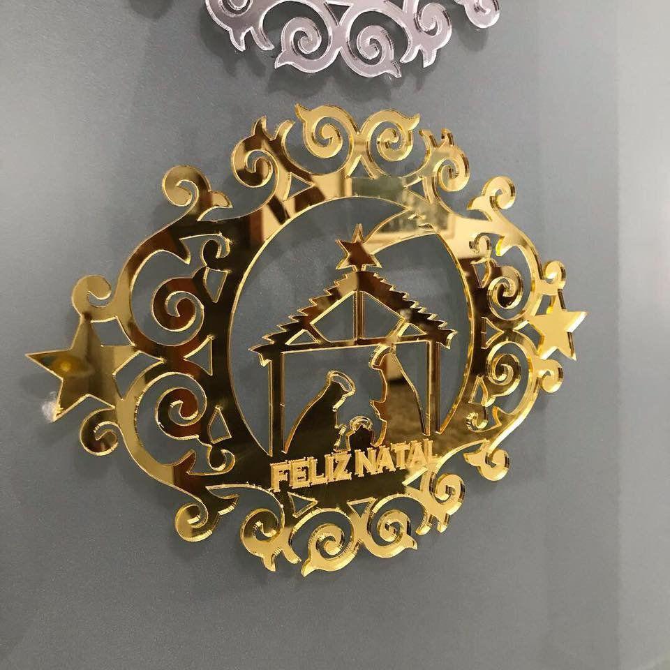 Ref. 001 - Enfeite Decorativo Porta ou Parede 30cm Natal MDF ou Acrílico