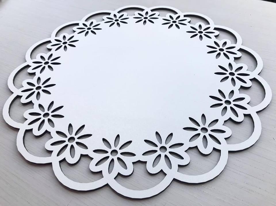 Ref. 002 - Sousplat Floral em MDF 35x35cm