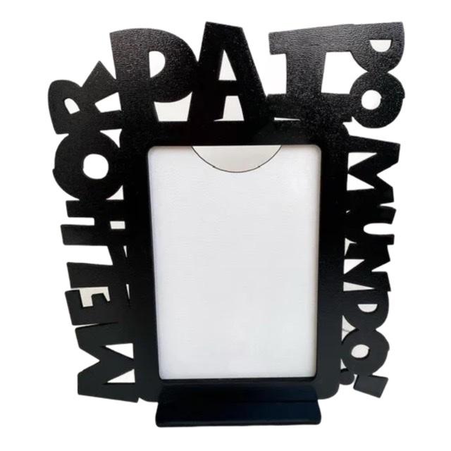 REF. 005 - Porta Retrato Dia dos Pais - Melhor Pai do Mundo - MDF Pintado