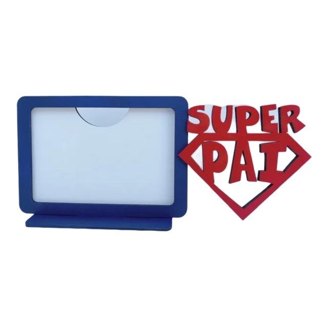 REF. 010 - Porta Retrato Dia dos Pais - Super Pai - Horizontal - MDF Laminado