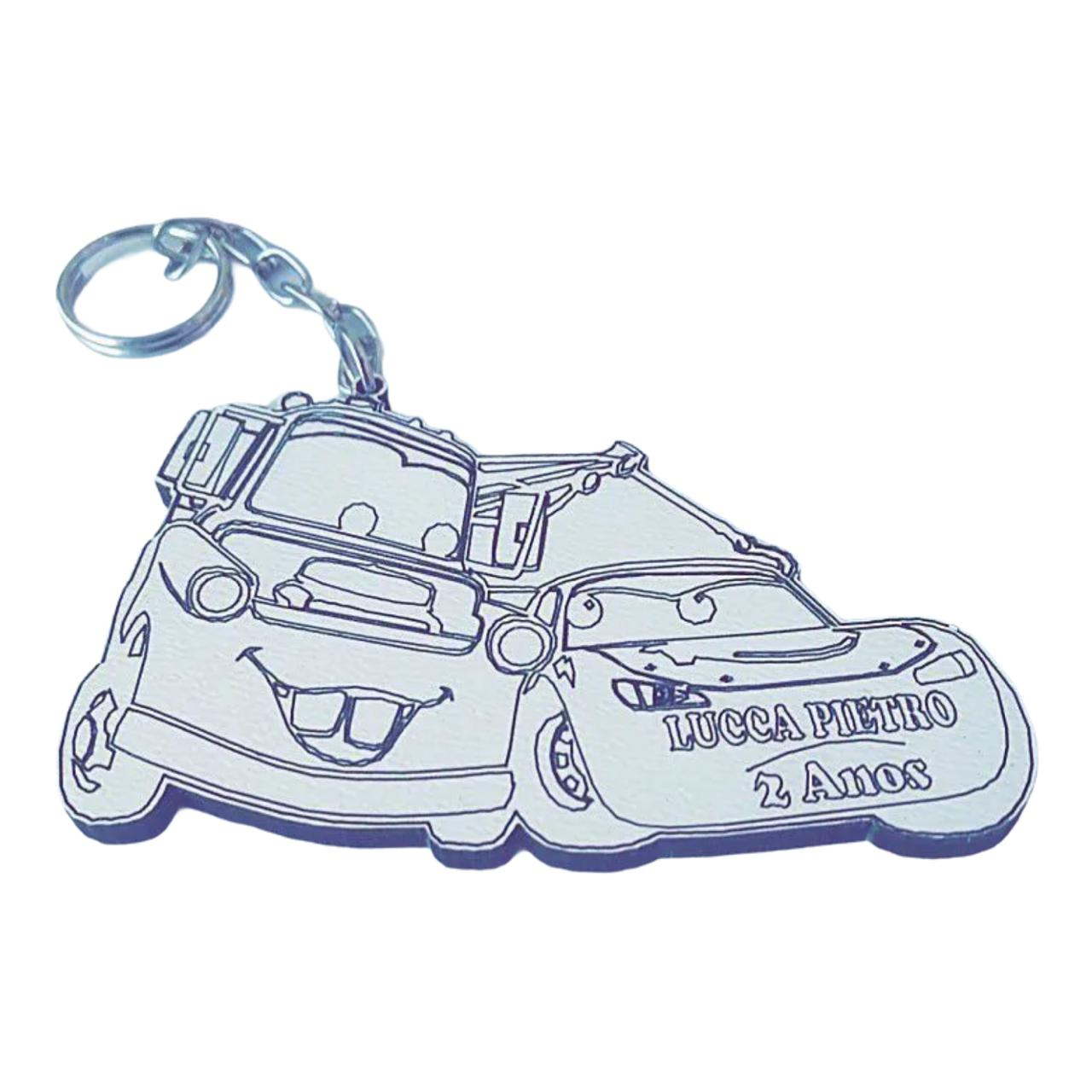 REF. 023 - Chaveiro Carros Personalizado MDF Laminado