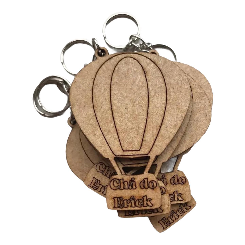 REF. 035 - Chaveiro Balão personalizado MDF Cru