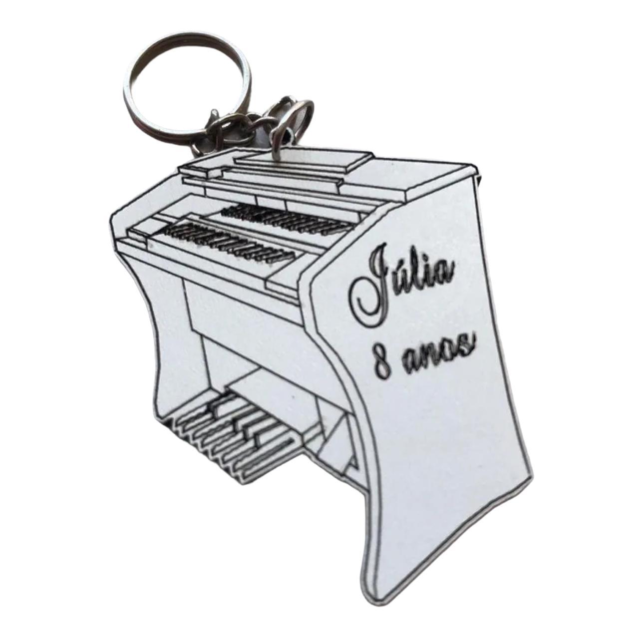 REF. 065  - Chaveiro Órgão Personalizado MDF Laminado - Instrumento musical