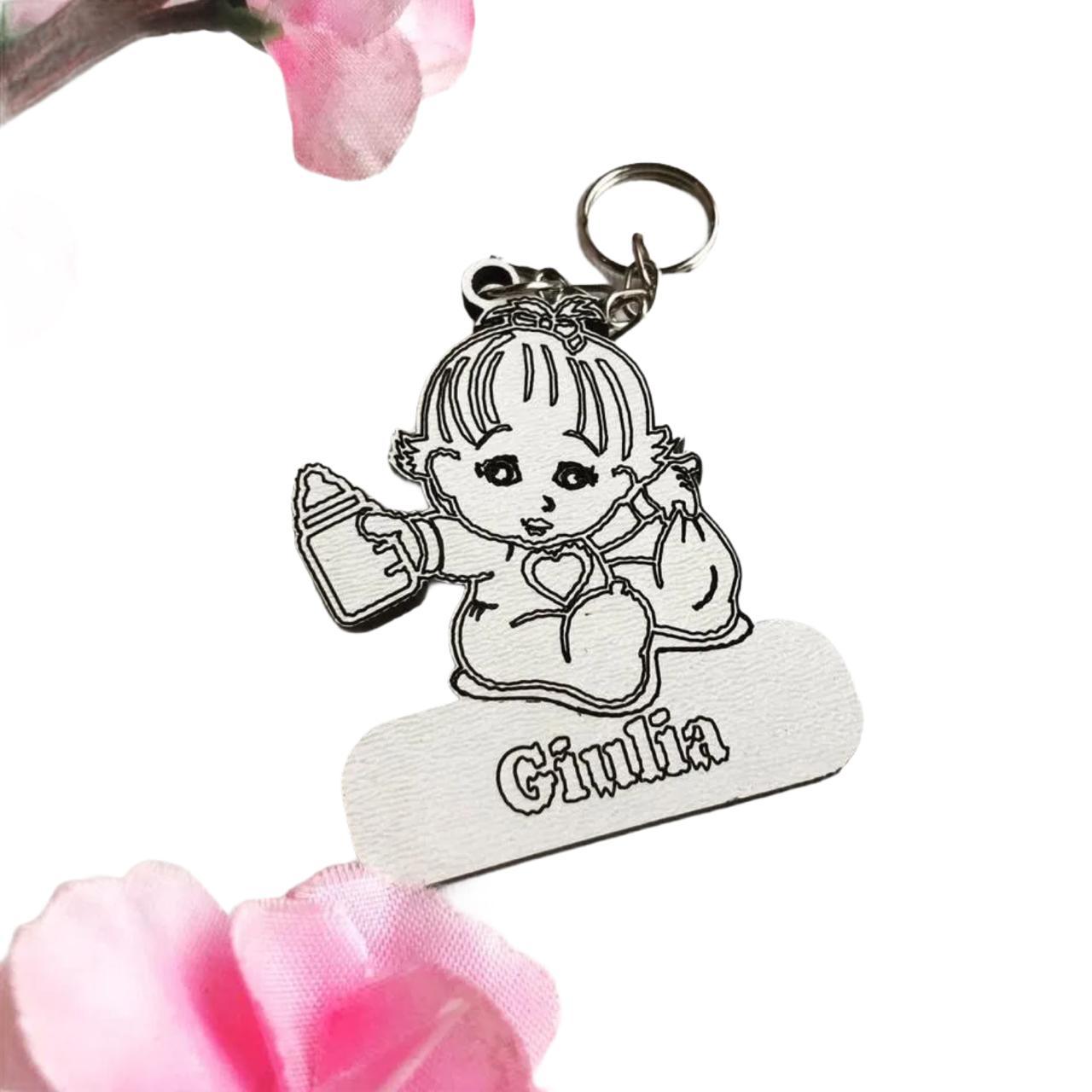 REF. 105 - Chaveiro Bebê menina personalizado Laminado
