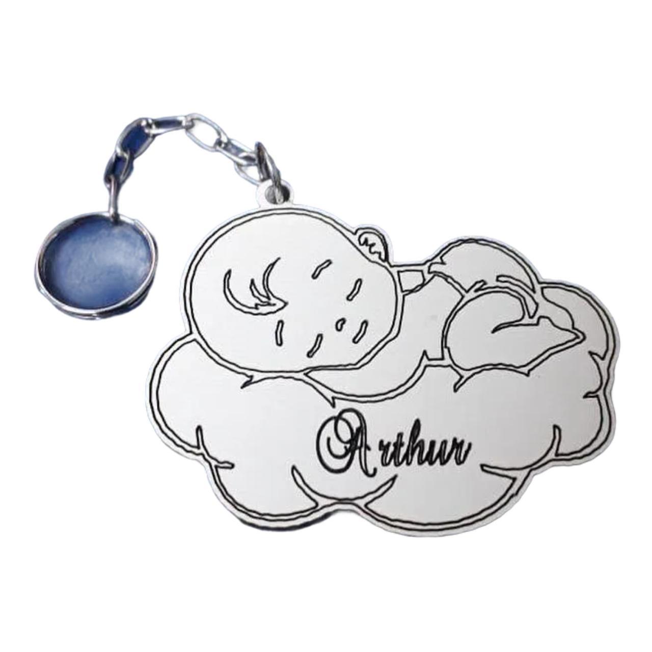 REF. 109 - Chaveiro Bebê dormindo Personalizado MDF Laminado