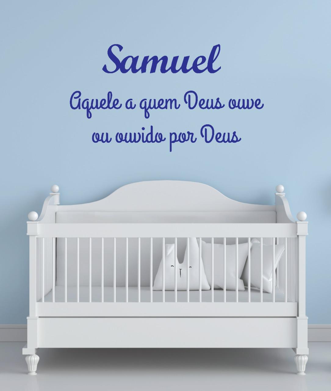 SAMUEL - Nome + Frase decorativa em MDF 1,5m Significado do Nome