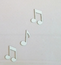 Trio de Notas Musicais 10cm