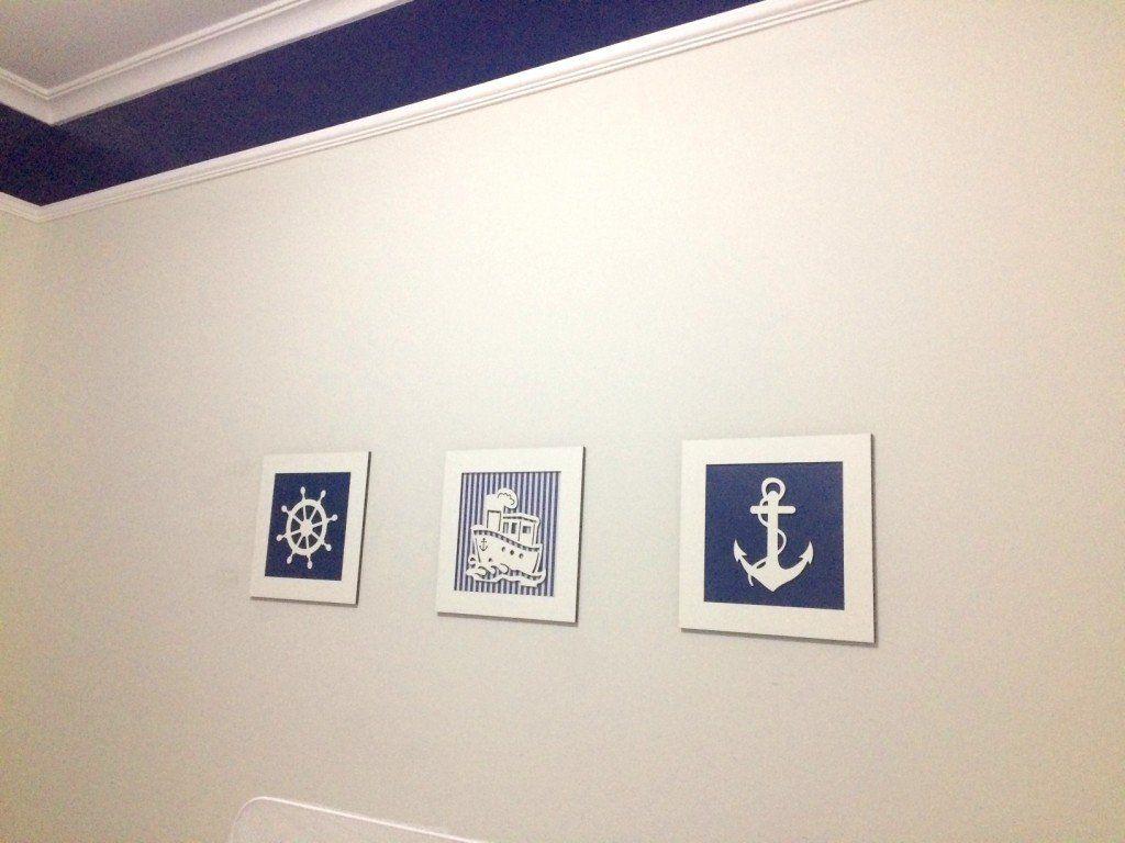 Trio de Quadros Marinheiro Decoração