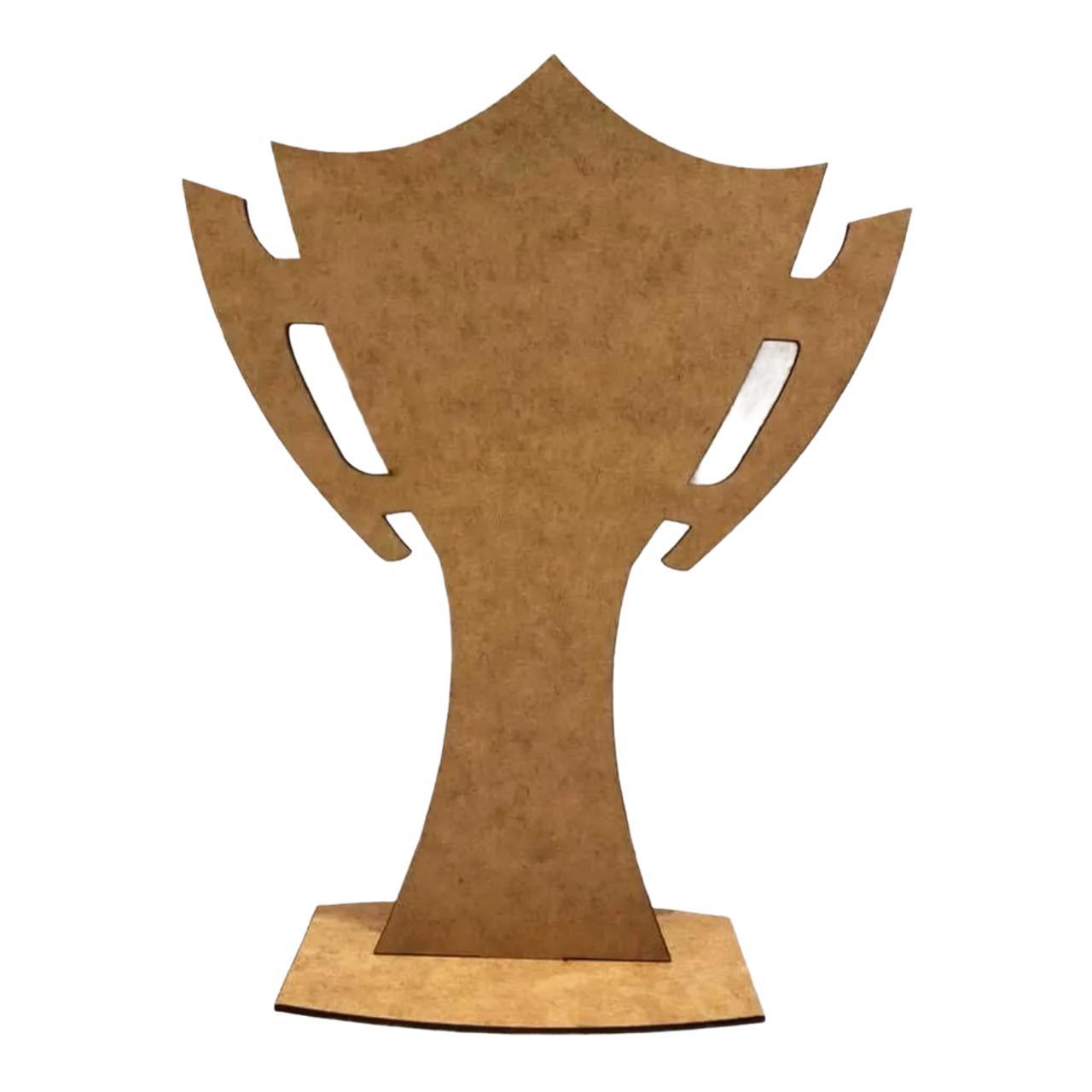 Troféu Desmontável 20cm Personalizado MDF CRU