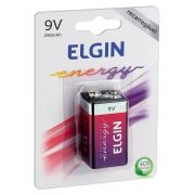 Bateria 9v Recarregável 250 mAh (Blister com 1) ELGIN