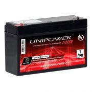 Bateria Selada UNIPOWER UP612 6V Brinquedos Eletrônicos 12Ah