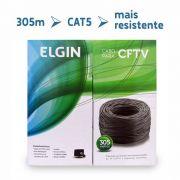 Cabo CFTV CAT5 Caixa com 305 Metros Preto ELGIN