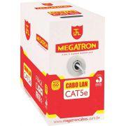 Cabo de Rede Cat5e 100% Cobre Cx 305m Branco 4P CMX 24AWG Megatron