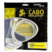 Cabo Displayport para HDMI com Trava 2 Metros 5+