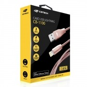Cabo USB para Iphone Lightning Homologado Revestido Metal CB-1100PK  C3tech