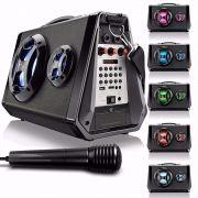 Caixa de Som Recarregável Bluetooth c/ Microfone Multilaser SP217