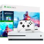 Console XBOX ONE S Microsoft 1TB Branco Edição Battlefield V