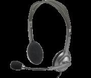 Headphone Fone Microfone Headset Logitech H110 P2 Preto
