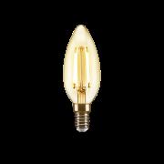 Lâmpada Led de Filamento Vela Chama Luz Âmbar 2w Avant 127v  48LC35F02A10 ELGIN