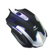 Mouse Óptico Gamer 2400DPI Preto e Prata com Iluminação C3tech MG-11BSI
