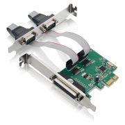 Placa Multiserial 2 serial RS232 1 paralela Pci express Multilaser GA128