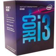 Processador Intel Core I3 8100 8A Geração Cache 6MB 3.6GHZ LGA 1151 BX80684I38100