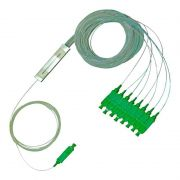 Splitter Óptico 1 X 8 Conector SC/APC Verde Nazda