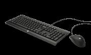 Kit Teclado ABNT2 e Mouse HP USB Preto C2500