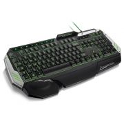 Teclado Gamer Semi Mecânico Warrior TC189 Multilaser com Led