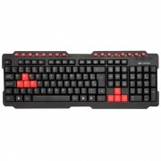 Teclado Usb Gamer Red Keys Multimidia C3tech Kg-10bk Preto