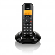 Telefone sem Fio ELGIN TSF 7600 com Identificador de Chamadas e Viva-Voz Preto