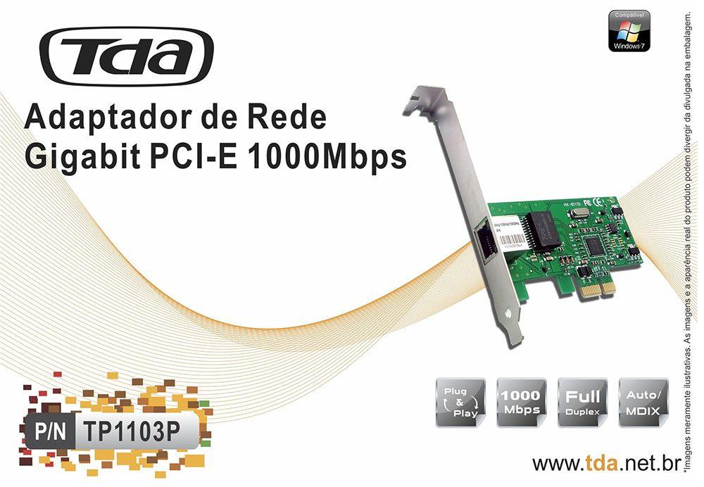 Adaptador de Rede PCI-E Gigabit 10/100/1000Mbps TP1103P