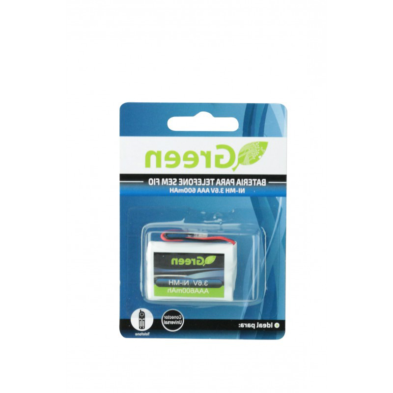 Bateria 3.6v 600MAH AAA plug universal GREEN p Telefone sem Fio
