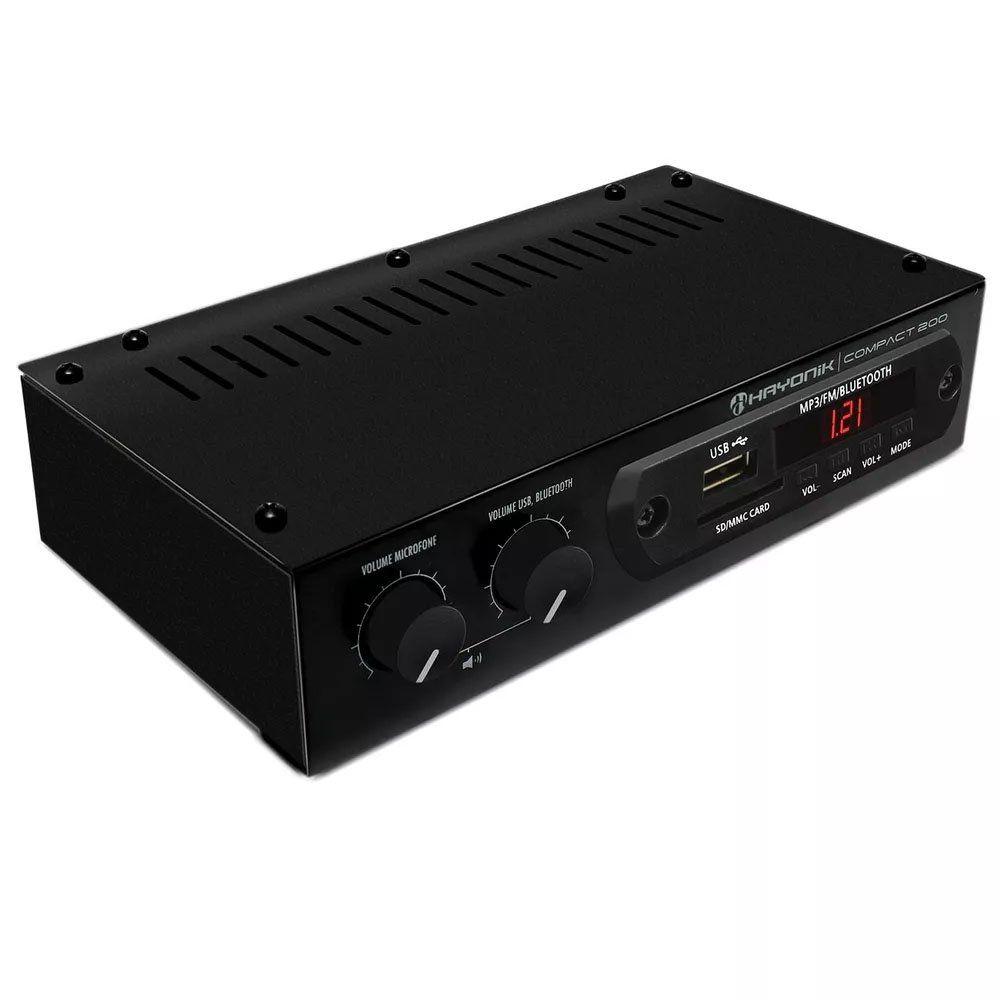 Amplificador Receiver Hayonik Usb Bluetooth SD Radio FM