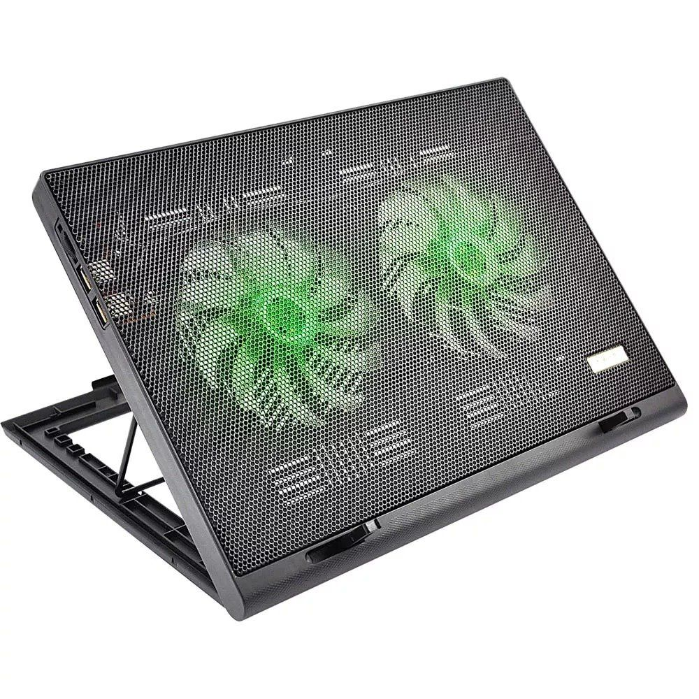 Base para Notebook Ajustável 2 Cooler Power Led USB Multilaser AC267
