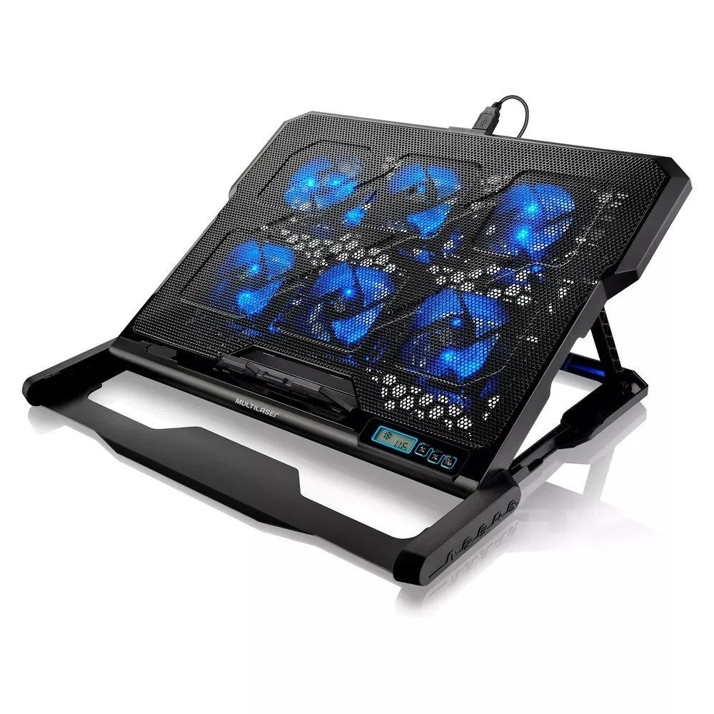 Base para Notebook com 6 Cooler Led USB Multilaser AC282