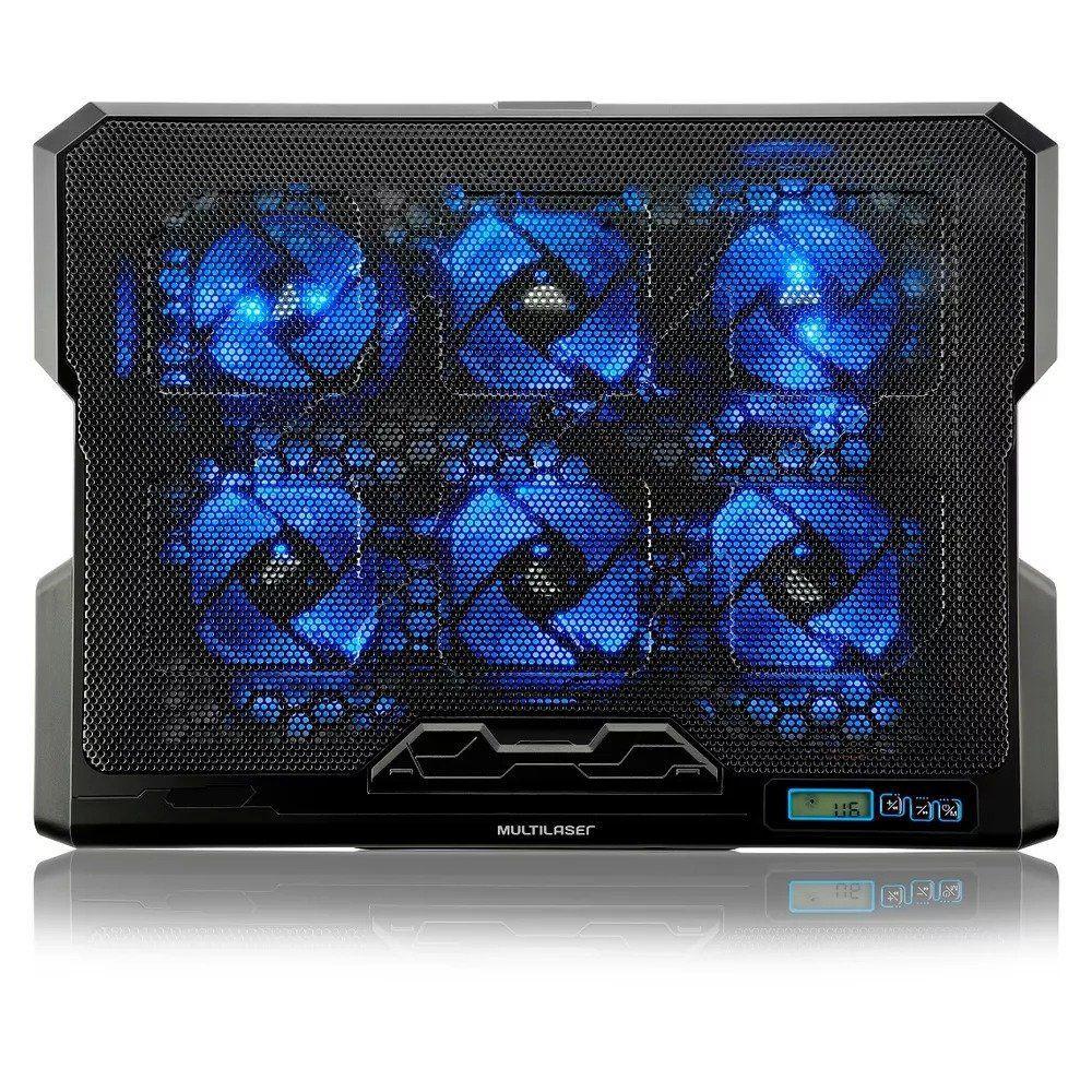 Base para Notebook com 6 Cooler Led USB Multilaser AC282
