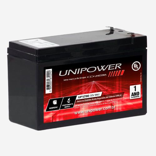 Bateria 12V/9Ah UNIPOWER UP1290 Selada