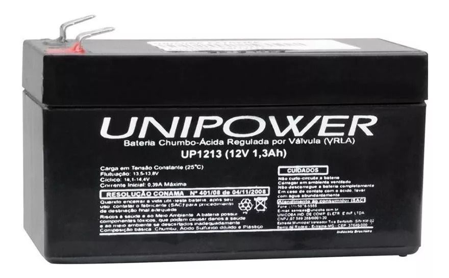 Bateria Selada UNIPOWER VRLA 12V 1,3AH UP1213