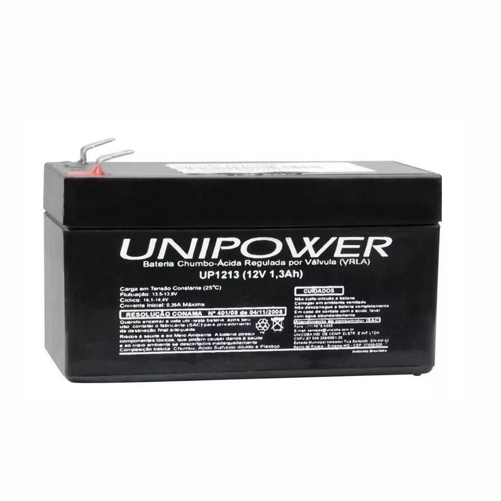Bateria Selada UNIPOWER VRLA 12V 1,3AH UP1213
