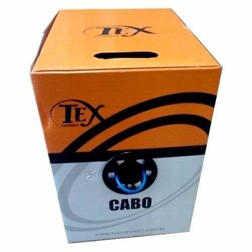 Cabo CFTV 8 Vias UTP 4 Pares 305m Azul TEXCONNECT