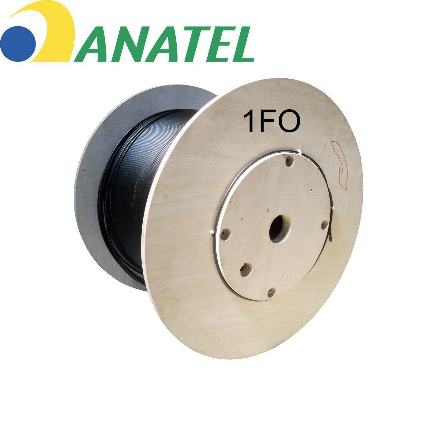 Cabo Fibra Óptica Drop 1FO Revestido Material Dielétrico 2.0*5.0mm Anatel
