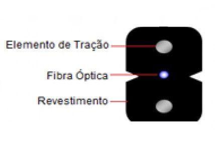 Cabo Fibra Óptica Compacto Metálico  1FO/G.657.A2 1000 m
