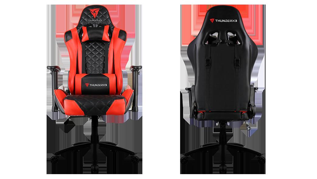 Cadeira Gamer Profissional THUNDERX3 TGC12 Preta/Vermelha