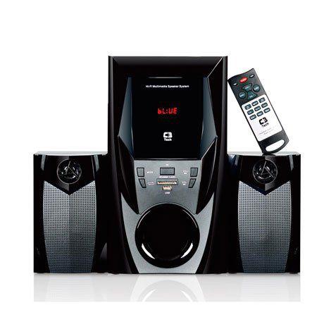 Som 2.1 Mini System Bluetooth Radio USB SD C3TECH SP-365B BK