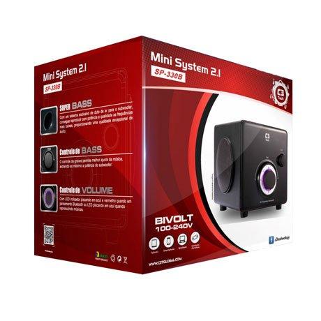 Caixa de Som Mini System C3tech SP-330B BK